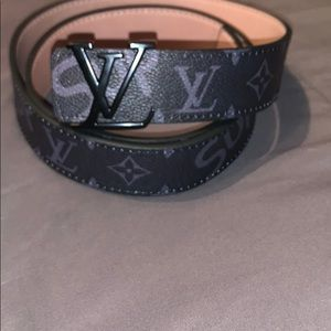 Louis Vuitton and supreme belt